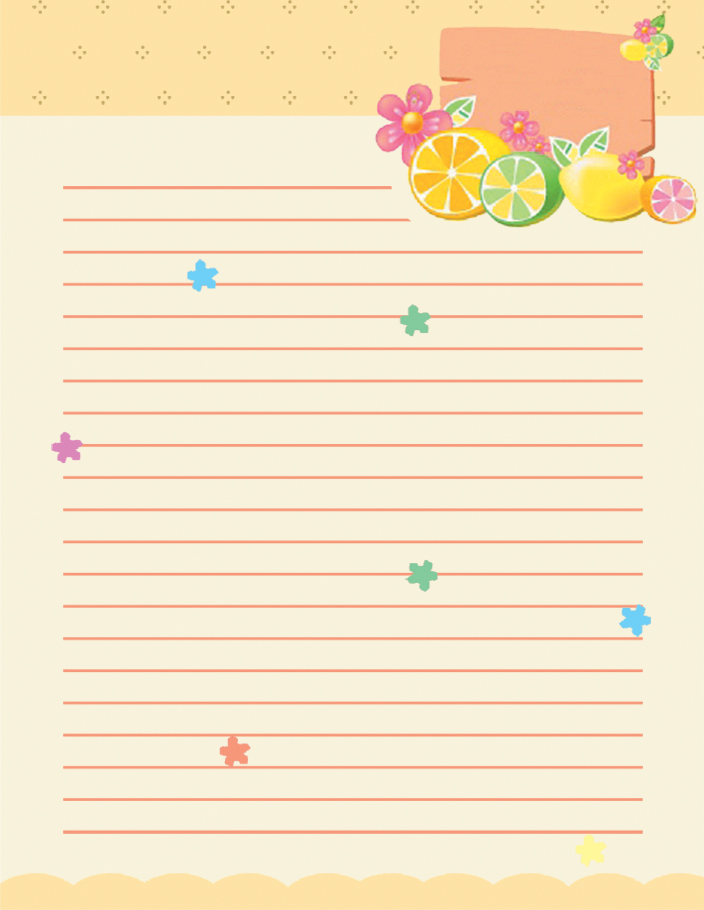 wiriting-lined-stationery paper templates - lined letter writing paper