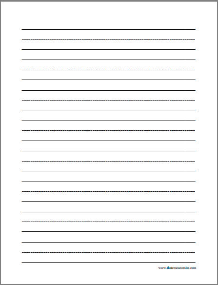 Lined-Doc-free-printable-letter-writing-paper - print lined writing paper