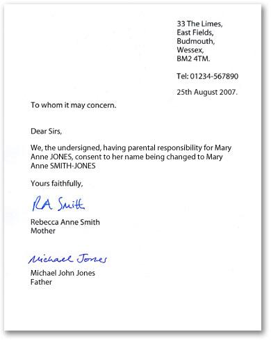 Parental Consent Letter Template Print Paper Templates