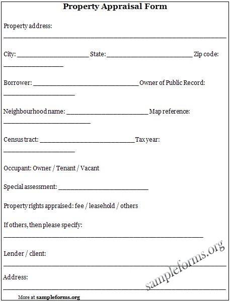 Property Appraiser Templates Print Paper Templates - appraisal order form