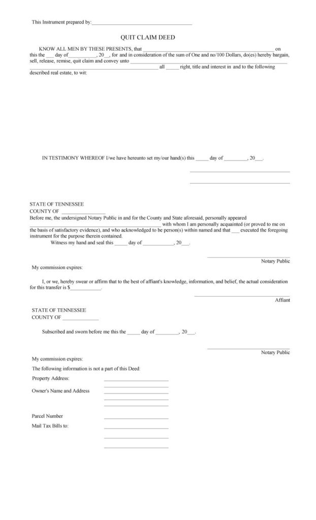 Claim Deed Printable Paper Template Print Paper Templates - Quick Claim Deed