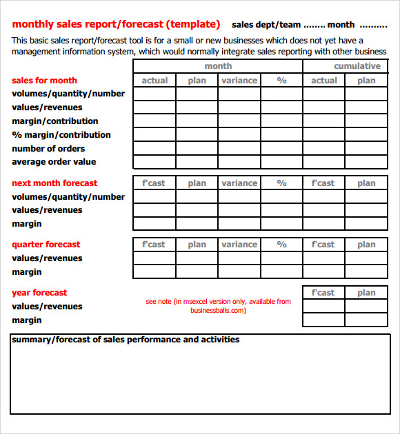 printable-word-Sales-Report-Template - template for a report