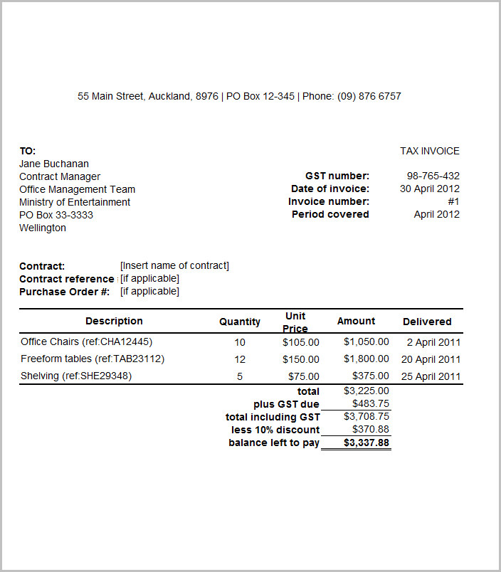 Download-printable-tax-invoice-sample-template - Tax Invoice Layout