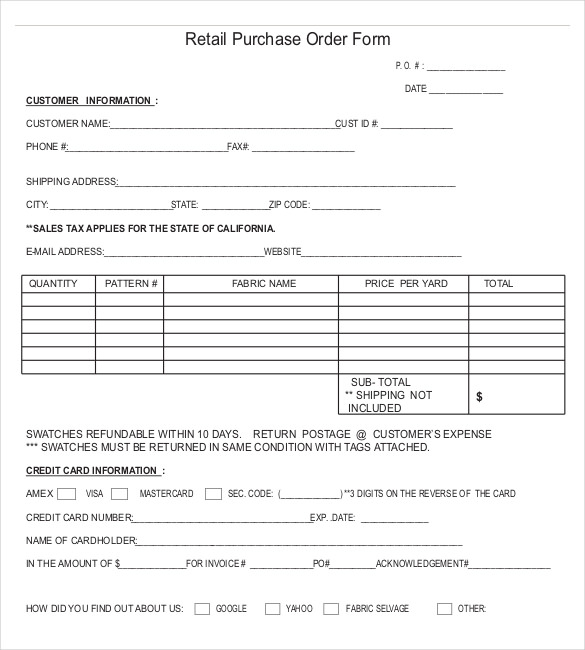 purchase-form-Retail-Purchase-Order-Form-Template-Sample-Format - po form template