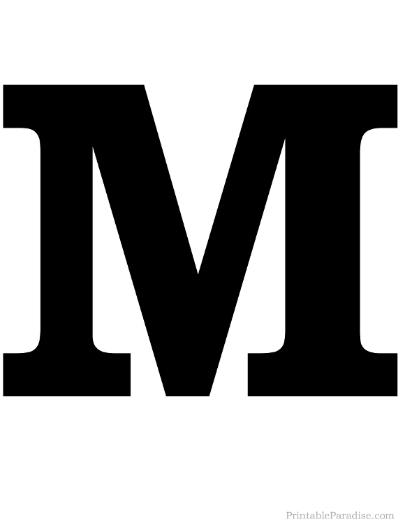 Printable Letter M Silhouette