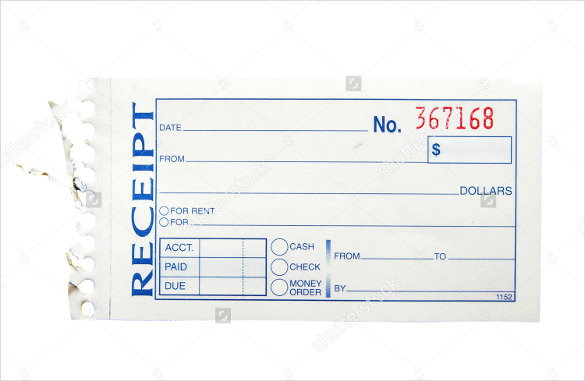 Blank Receipt Template printable receipt template