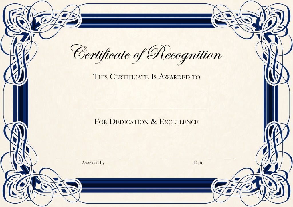 Certificate Of Appreciation Template Word Doc printable receipt
