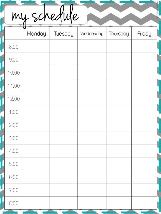 my schedule maker - Josemulinohouse - microsoft timetable template