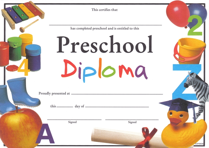 photograph regarding Preschool Certificates Printable called printable preschool commencement certificates - Elim