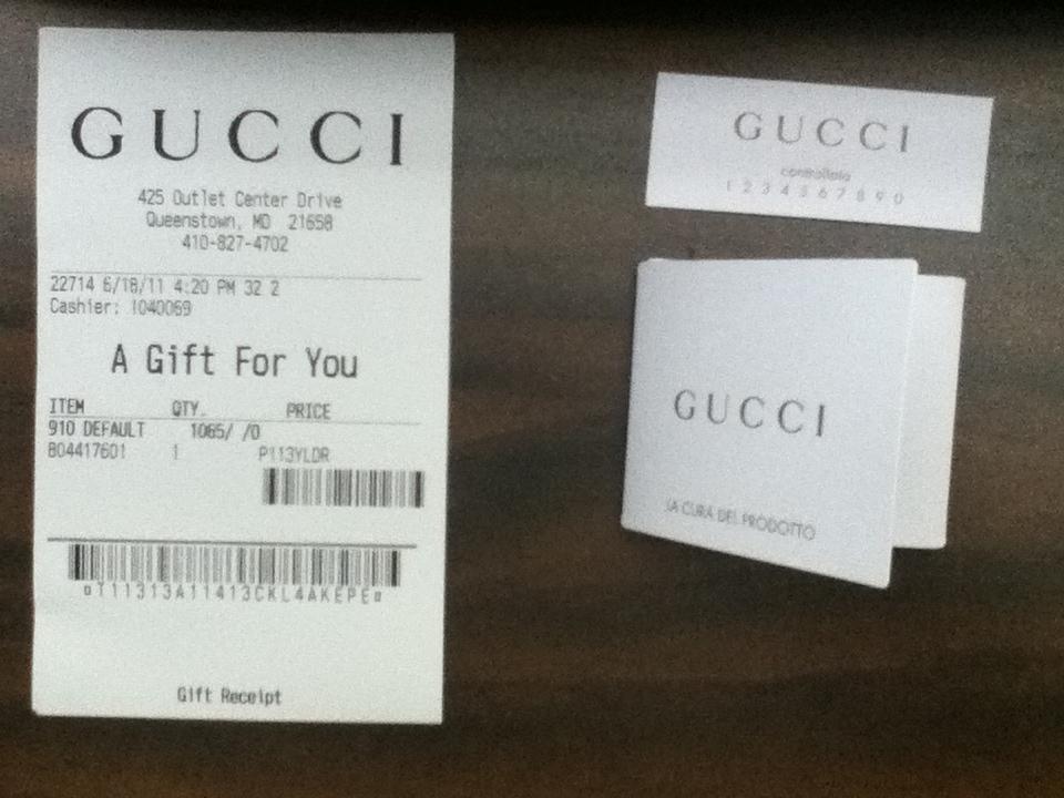 Gucci Receipt Template printable receipt template
