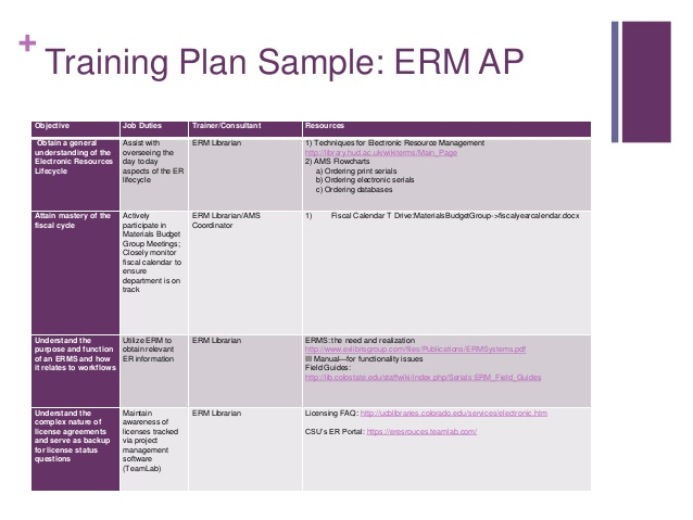 Individual Employee Training Plan Template printable receipt template