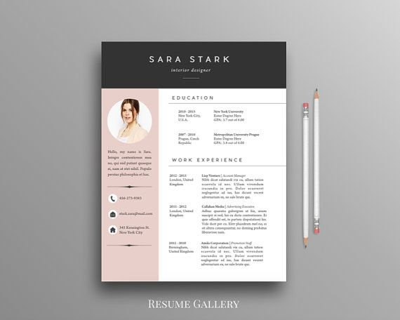 creative resume template free download pdf