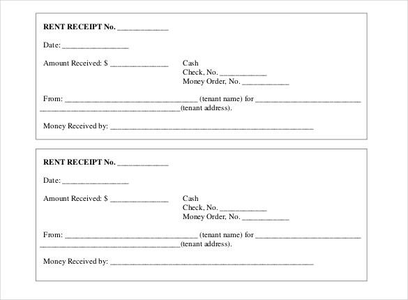 Printable Receipt Template Free printable receipt template
