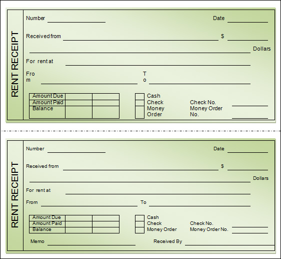 Printable Rent Receipt Template printable receipt template