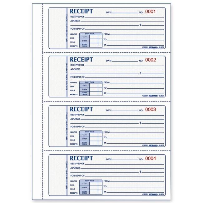 Receipt Book Template Word printable receipt template