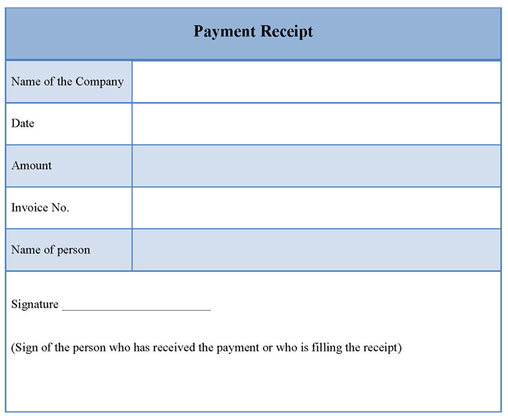 how to make a receipt in excel