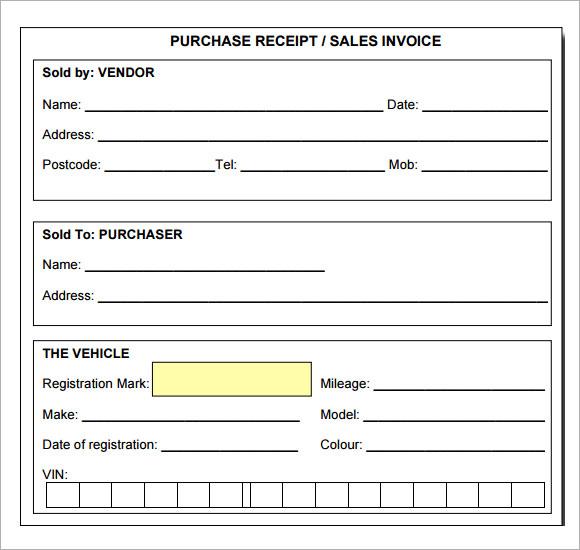 Receipt Template Pdf printable receipt template