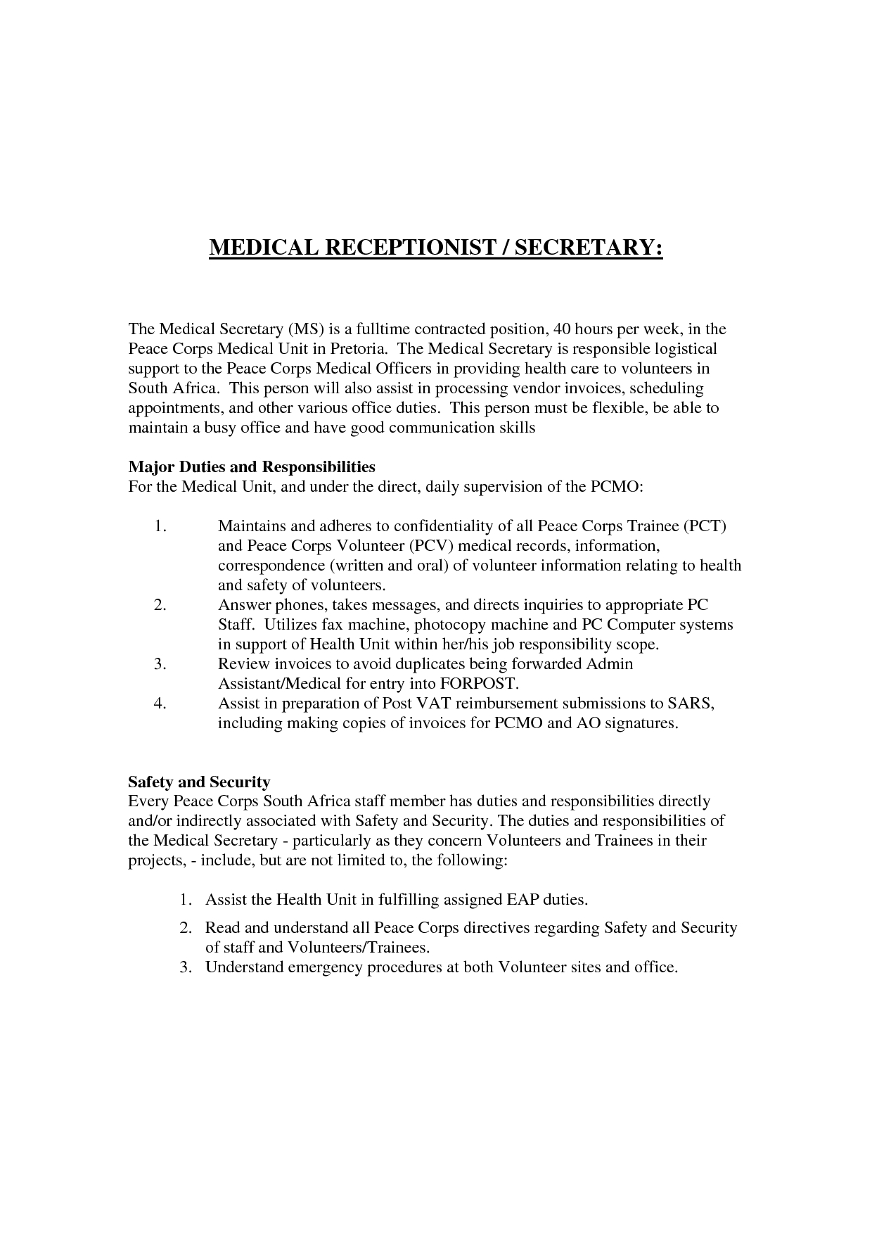 medical assistant example resume with no experience