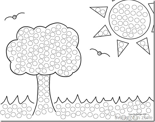 hand eye coordination qtip painting free printable craft template