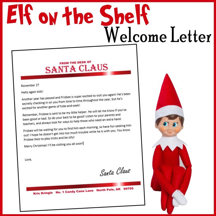 Elf on the Shelf Customizable Welcome Letter - Printables 4 Mom