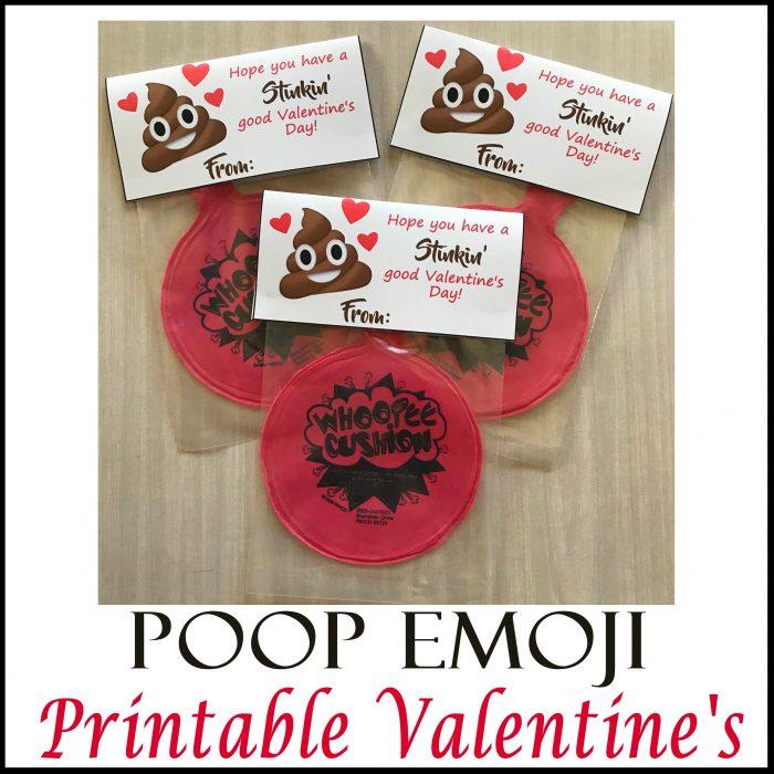 Poop Emoji Whoopee Cushion Valentine\u0027s - Printables 4 Mom