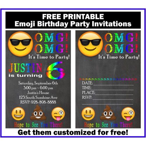 Medium Crop Of Emoji Birthday Invitations