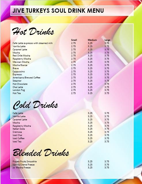 Sample Menu Template Restaurant Menu Template Paper Background - drinks menu template free