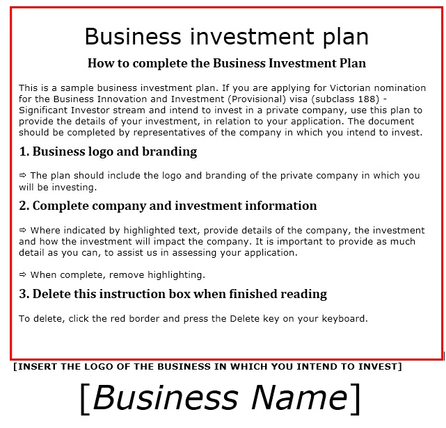 investor proposal sample - Intoanysearch