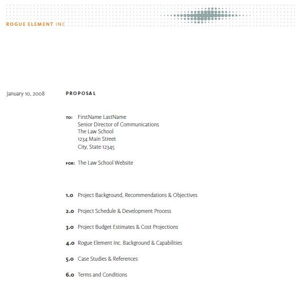 13 Free Sample Creative Work Proposal Templates - Printable Samples