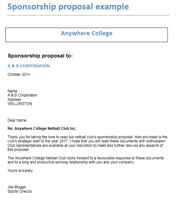 12 Free Sample Sponsorship Proposal Templates - Printable Samples - example sponsorship proposal