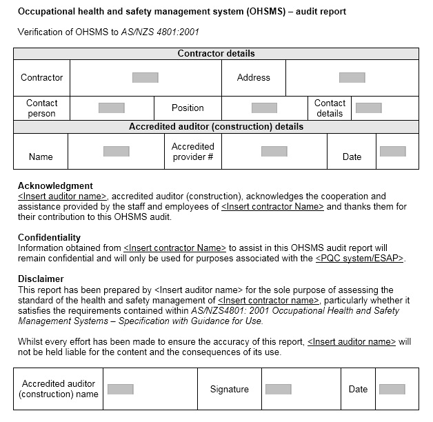 13 Free Sample Audit Report Templates u2013 Printable Samples - audit report