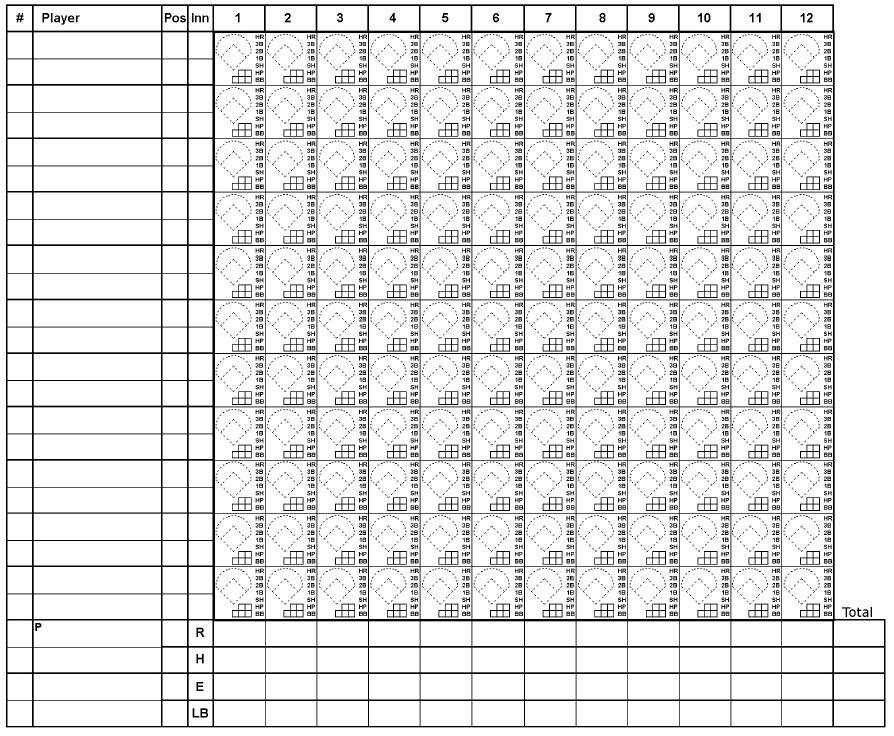 Baseball Scoresheet Baseball Scoresheet Baseball Score Card Gbjrap