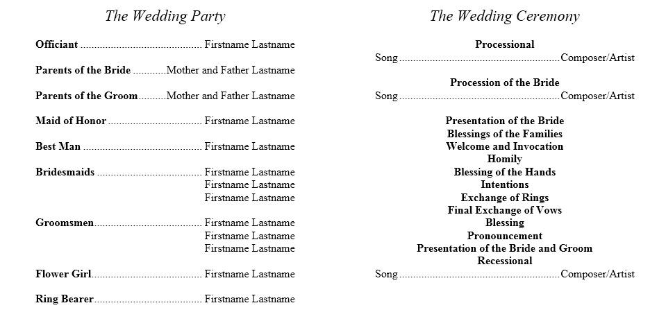 8 Free Sample Wedding Brochure Templates - Printable Samples