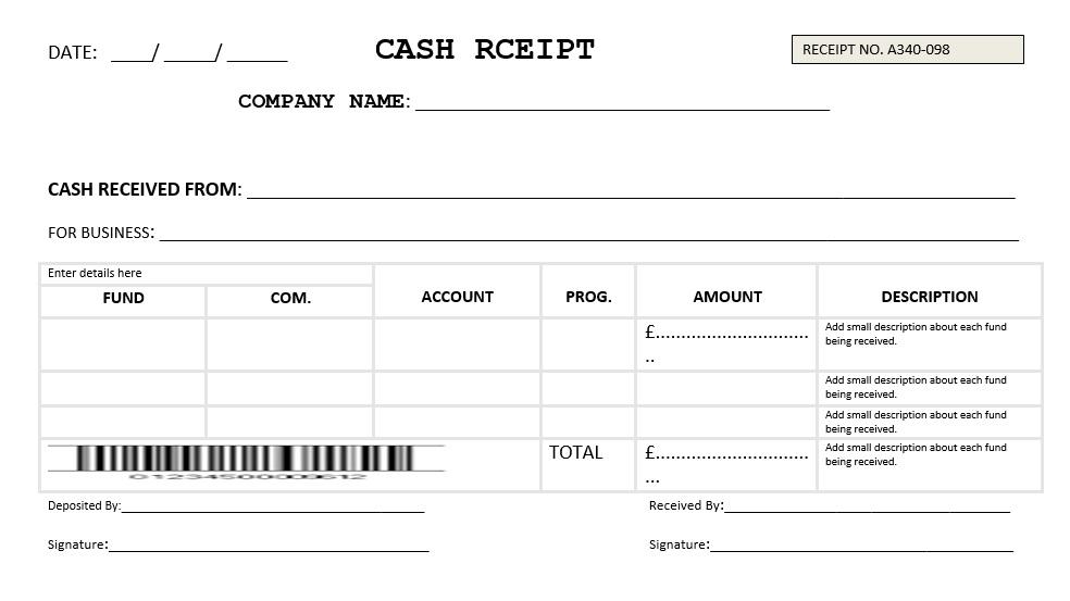 7 Free Sample Transfer Receipt Templates - Printable Samples