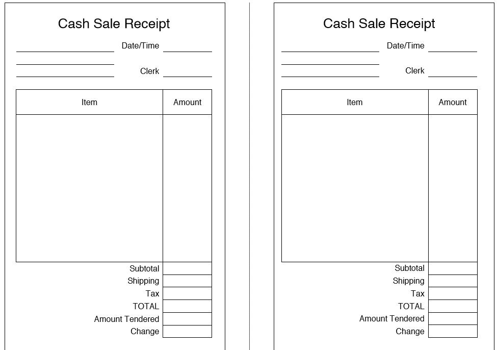 Attractive Cash Sale Receipt Template Word Mold - Resume Ideas - cash sales receipt