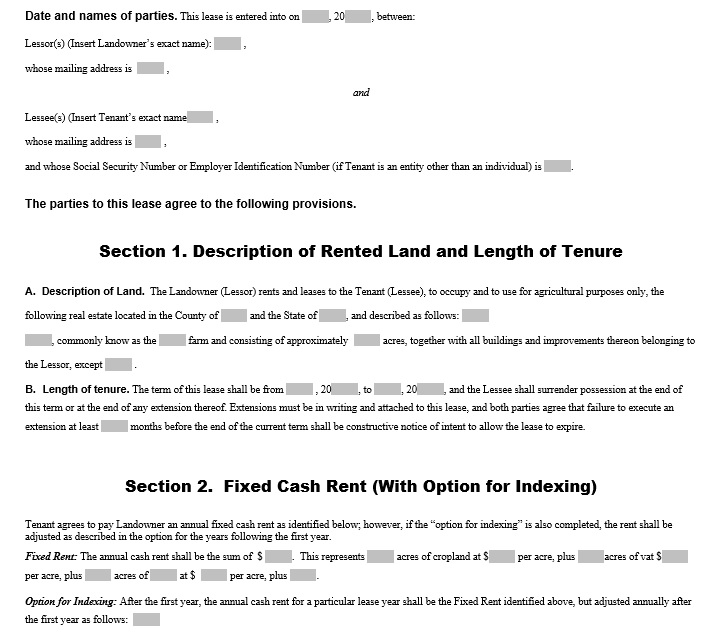 Sample Land Lease Agreement Templates Capital Lease Agreement