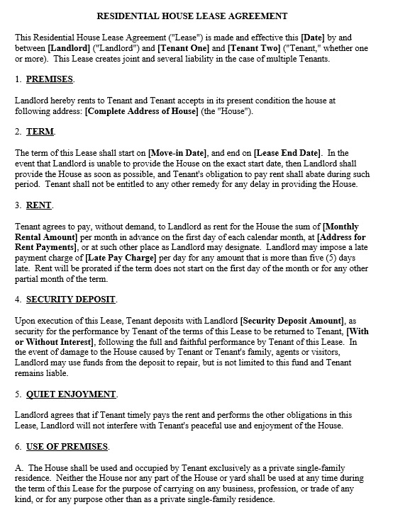 12 Free Sample Legal Lease Agreement Templates u2013 Printable Samples - free sample lease agreement