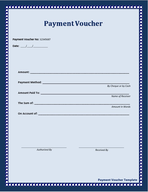 10 Free Sample Payment Voucher Templates - Printable Samples - example of a voucher