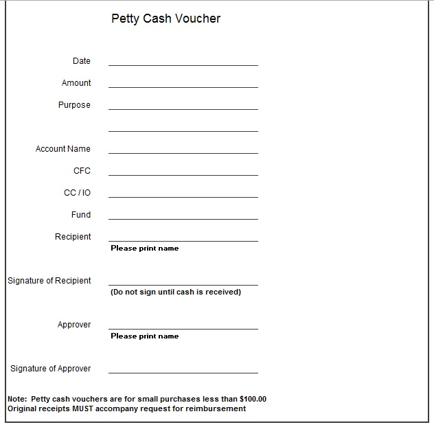 Doc#564301 Example of Petty Cash Voucher u2013 Accounting and - petty cash voucher template