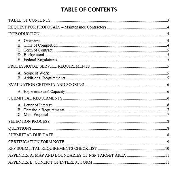 9 Free Sample Construction Proposal Templates - Printable Samples