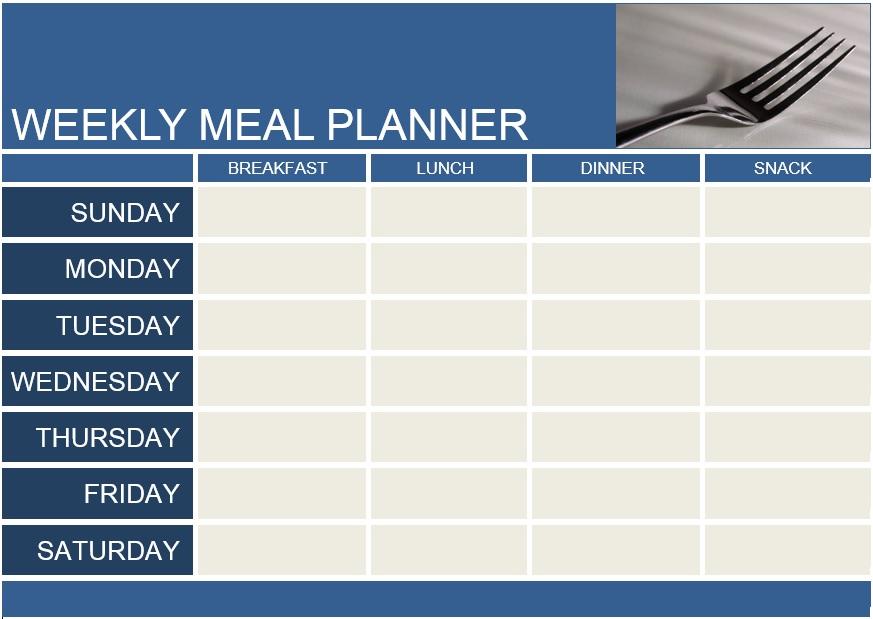10 Free Sample Menu Planner Templates - Printable Samples