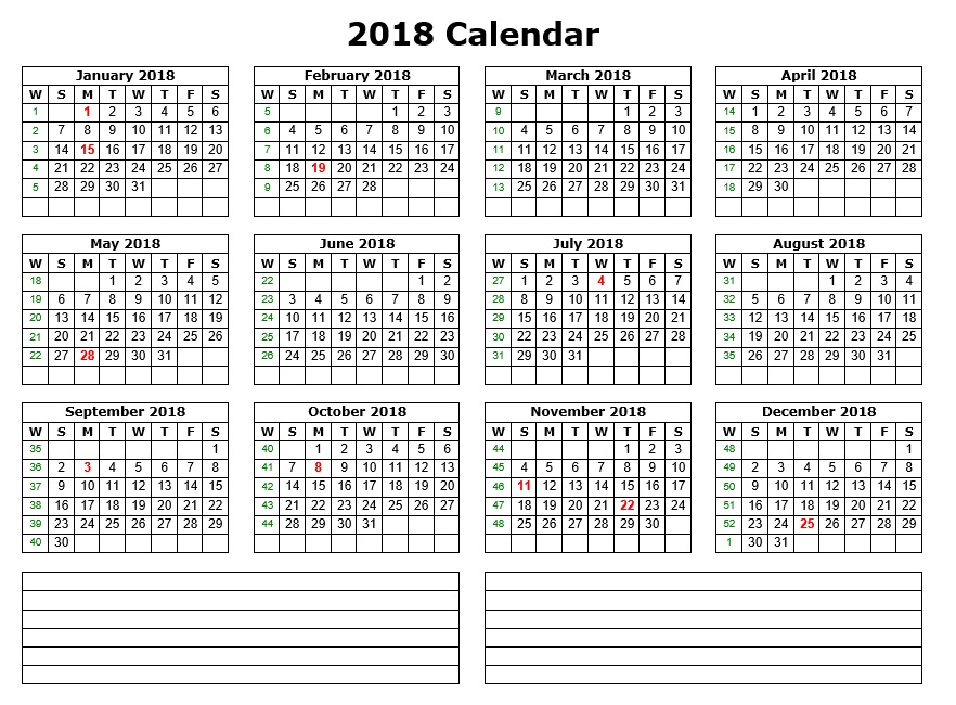 10 Free Sample Printable Calendar Templates for 2018 – Printable ...