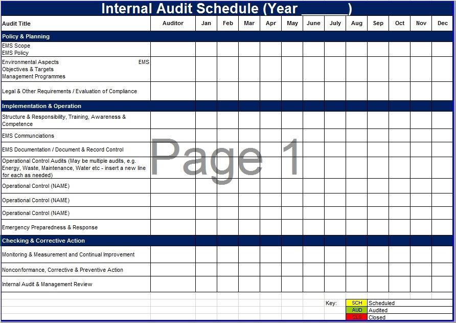 Internal Audit Templates - Costumepartyrun