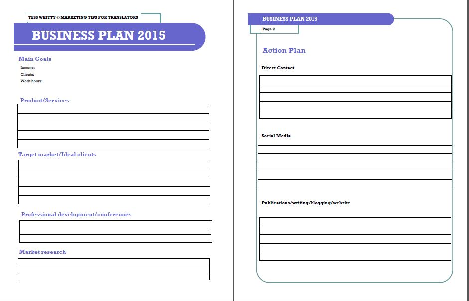Business Plan Template Free Download printable schedule template