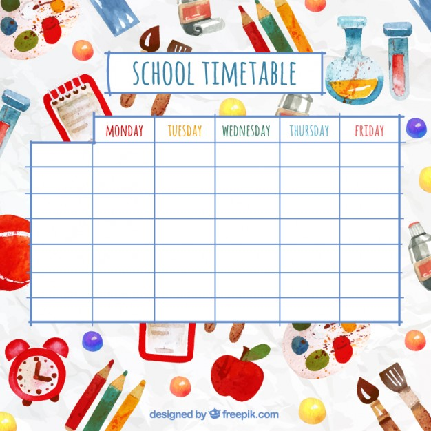 Cute Class Schedule Template printable schedule template