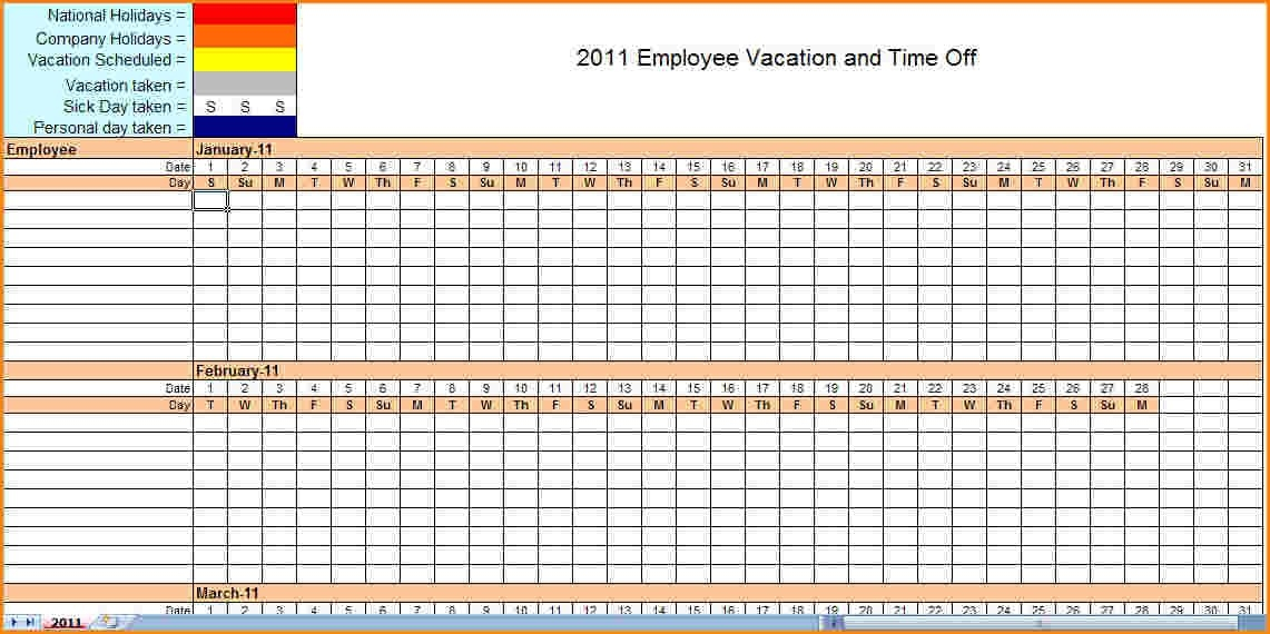 Monthly Employee Schedule Template Excel printable schedule template