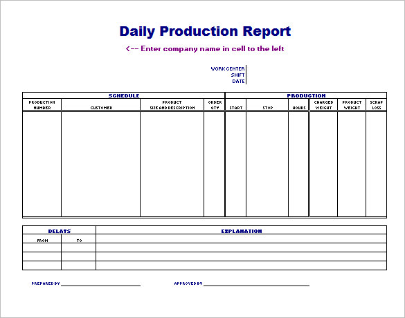 production planning excel templates