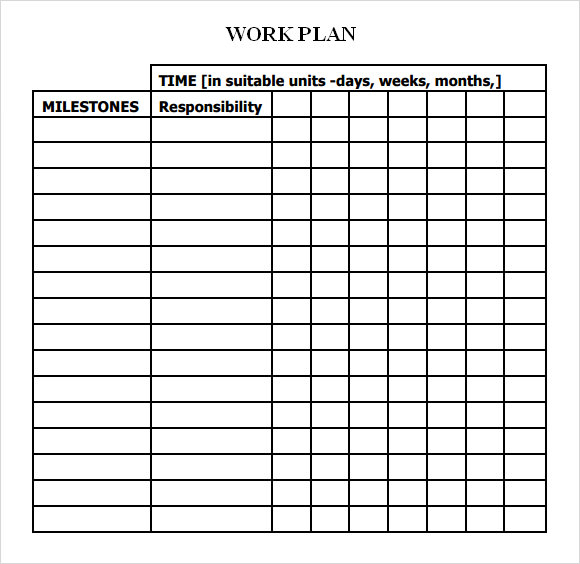 Project Plan Template Download Free printable schedule template
