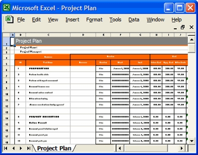 Project Plan Template In Excel Free printable schedule template