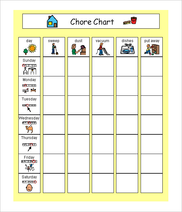 Schedule Chart Template printable schedule template